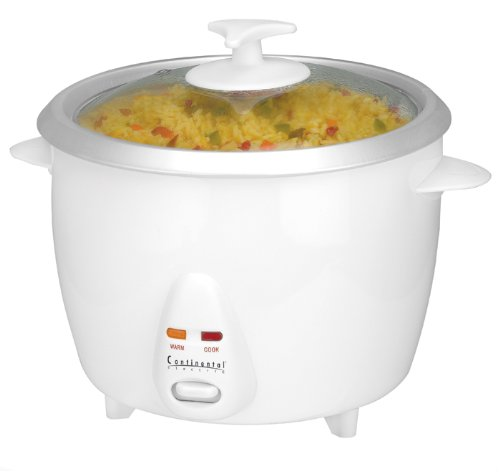 Continental Electric Ce23241 White 10-Cup Rice Cooker