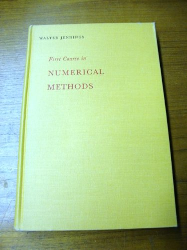 First Course in Numerical Methods