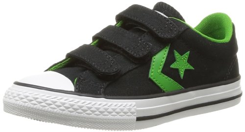 CONVERSE Unisex-Child Star Player Ev3 Trainers 363950-31-8 Noir/Vert 10.5 UK, 28 EU