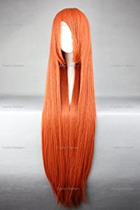 CosplayerWorld Cosplay Wigs Code Geass: Lelouch of the Rebellion Shirley Fenette Wig For Convention Party Show Red Orange Yellow 100cm 380g WIG-018i4