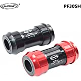 Generic Red : WAKE Hot Bicycle Bottom Bracket Bike Axis MTB Road Cycling Bottom Bracket Bicycle Alloy Bolt 46*...