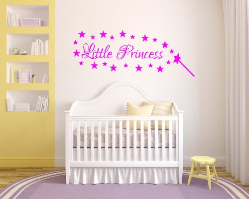 Little Princess Stars Wall Sticker Girls Bedroom front-138141