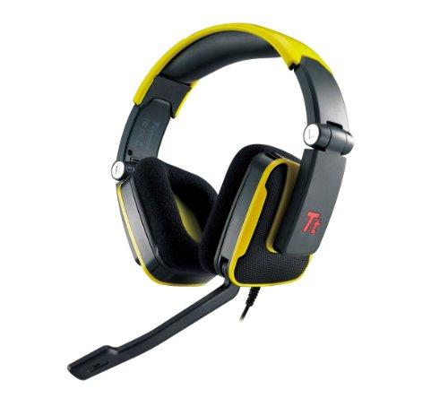 Tt Esports Ht-Shk002Ecye Thermaltake Shock Gaming Headset, Yellow