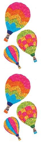 Jillson Roberts Prismatic Stickers, Hot Air Balloons, 12-Sheet Count (S7106)