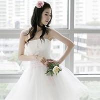 ミニドレス.ミニウエディングドレス.二次会ドレス.プリンセスラインM623