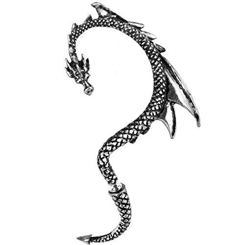 alchemy-gothic-die-drachen-locken-stulpe-stud-linken-ohr-einzelnen-ohrring-e274l