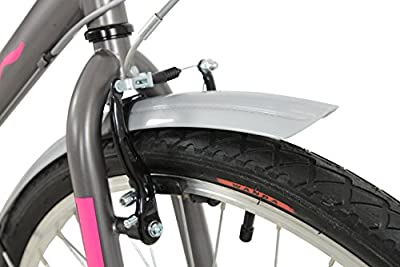 Falcon Women's Expression Hybrid Style City Bike - Pink/Grey, 26-Inch
