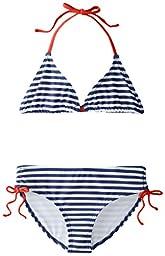 Kanu Surf Big Girls\' Bali Bikini Swimsuit, Navy, 14