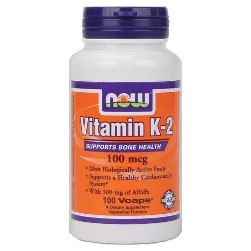 Now Vitamin K-2 - 100 Mcg 100 Vcaps