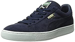 PUMA Men's Suede Classic + Lace-Up Fashion Sneaker, Peacoat/Peacoat/White, 7.5 M US