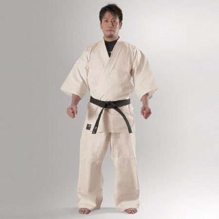 Body maker (BODYMAKER) BB-SPORTS BODYMAKER full contact karate uniform ivory (0) with top and bottom set and white belt 1 FKA0 1FKA0