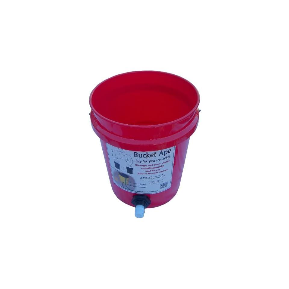 5 Gallon Bucket with Garden Hose adapter already mounted
