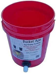 Amazon.com : 5 Gallon Bucket with Garden Hose adapter already mounted