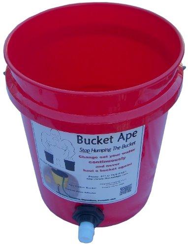 5 gallon bucket with garden hose adapter already mounted for Gardening 5 gallon bucket