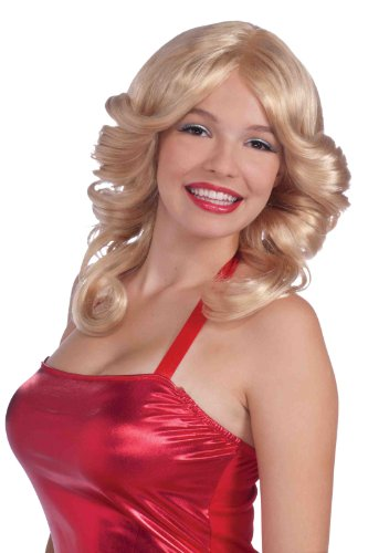 Forum Novelties Women's 70's Disco Angel Farrah Costume Wig