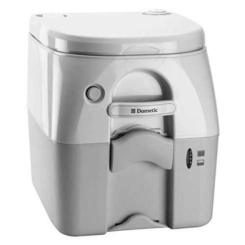 Dometic - SeaLand 975 Portable Toilet 5.0 Gallon - Grey w/Brackets (Dometic Plastic Toilet Seat compare prices)