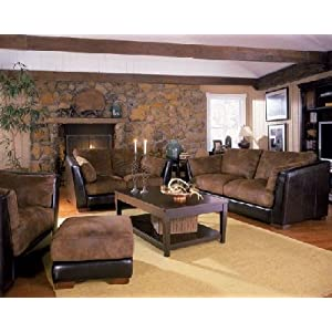 Contemporary Microfiber Living Room Set Coaster Living Room Sets