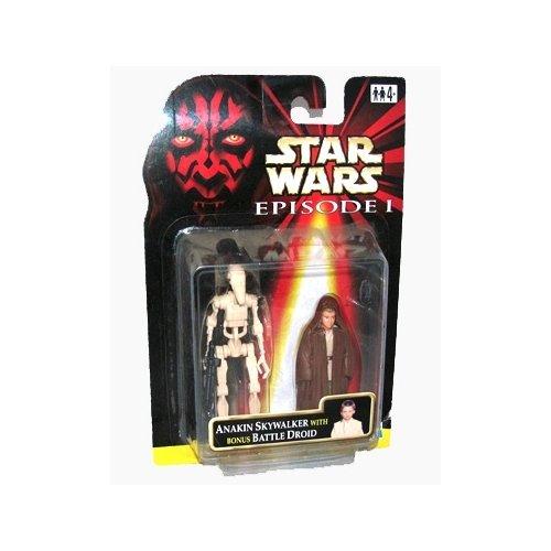 Star Wars Episode I Jedi Apprentice Anakin Skywalker with Bonus Battle Droid Action Figure