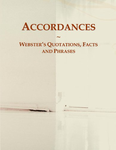 Accordances: Webster's Quotations, Facts and Phrases