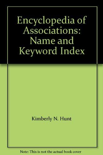 Encyclopedia Of Associations: Name And Keyword Index
