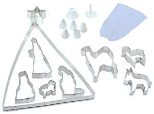 Fox Run 17 Piece Nativity Cookie Cutter Bake Set