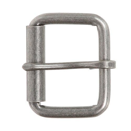 "BELTISCOOL 1 1/2"" Nickel Free Single Prong Roller Belt Buckle Color: Antique Silver"