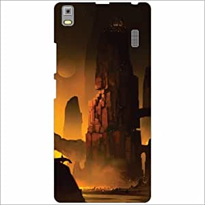 Lenovo K3 Note - PA1F0001IN Back Cover - Silicon Brown Desiner Cases