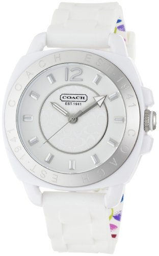 Coach Womens 14501352 Boyfriend White Silicone Watch