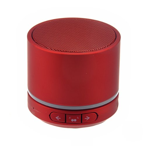 Foxnovo Rechargeable Wireless Bluetooth V4.0 Mini Speaker With Mic Tf Card Slot For Iphone,Ipad,Ipod,Cellphone,Mp3 (Red)