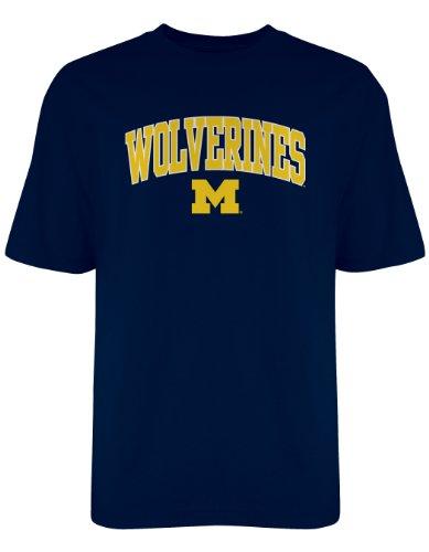 NCAA Michigan Wolverines Old Varsity/Gildan T-Shirt, Navy, X-Large