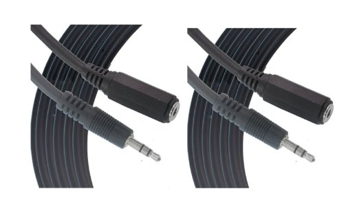 Comprehensive 10Ft Headphone Extension Cable 3.5Mm Stereo Mini Male To Female Cable 2-Pack