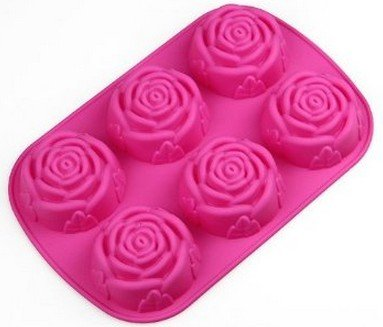 Eur 4 61 allforhome stampo in silicone 6 rose per torte - Utensili da cucina per dolci ...