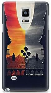 KSC Desginer Printed Hard Back Case Cover For Samsung Galaxy Note 4