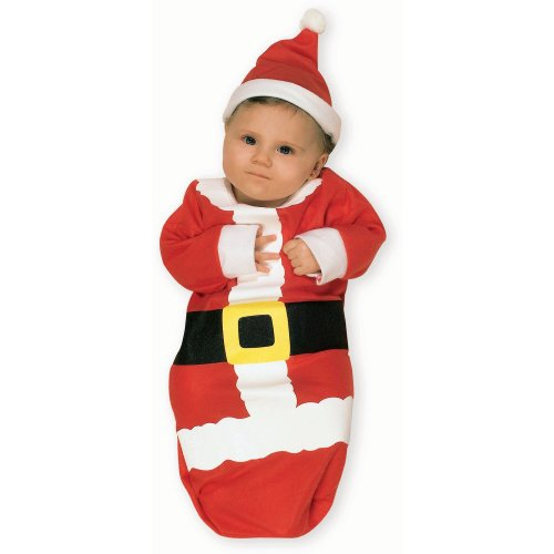 Rubie's Costume Newborn Santa Claus Bunting, Red, One Size Costume