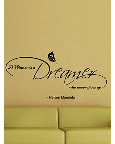Ambiance Sticker Vinilo Adhesivo Nelson Mandela – A Winner Is A Dreamer