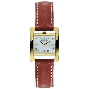 Michel Lafon  17037/P19GO - Reloj de cuarzo para mujer, con correa de cuero, color marrón