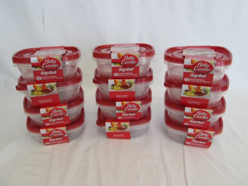 12 Pieces Betty Crocker Storage Container 27.5 Oz/815 Ml, Microwave Safe.
