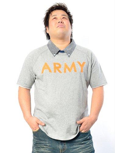 SUN HERITAGE(サンヘリテイジ) ARMYスウェットTシャツ 4L グレー