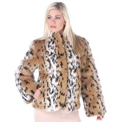 Buy Pamela McCoy Bell Sleeves Autumn Lynx Faux Fur Coat