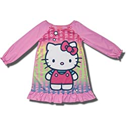 "Hello Kitty ""Kitty with Stars"" long-sleeve nightgown for girls"