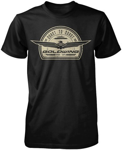 Honda Mens Goldwing Retro Short-Sleeve T-Shirt, Black, 2X-Large (Honda Goldwing Motorcycle compare prices)