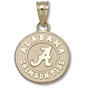 "University of ""Alabama Crimson Tide A"" Round 1/2 Inch - 14K Gold"