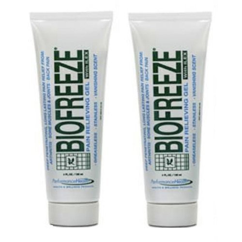 Biofreeze Pain Relieving Gel with Ilex, 4-Ounce (Pack of 2)