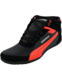 Essence Men's Red Black Synthetic High Top Shoes