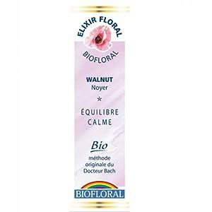 Biofloral - Elixir floral du docteur bach n°33 noyer - compte goutte élixir floral 20 ml - Pour prot