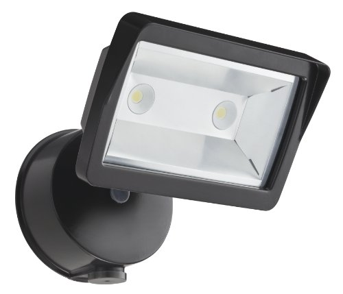Lithonia Olfl 14 Pe Bz M4 Security Led Dusk-To-Dawn Floodlight, Bronze