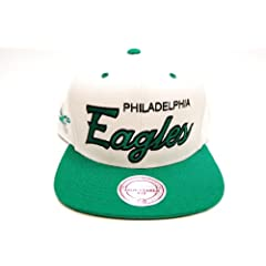 Mitchell & Ness Philadelphia Eagles NFL Football Off White Snapback Cap Hat... by Mitchell & Ness