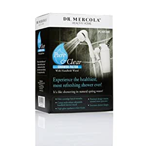 dr mercola pure and clear shower filter with handheld wand heal. Black Bedroom Furniture Sets. Home Design Ideas