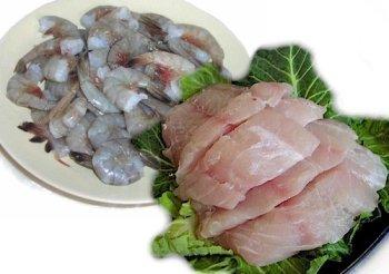 2 lbs. Red Grouper and 2 lbs. Jumbo Shrimp