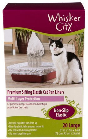 Whisker City Large Cat Sifting Litter Box Liners, 20 Count (Whisker City Cat Pan Liners compare prices)